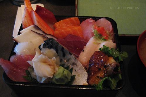 Sashimi on rice