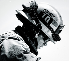 Heads_Up (Handcanons) Tags: helmet shades shield paramedics firefighter paramedic ems firedepartment firefighters turnouts bunkers fireservice