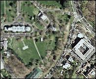 La casa de Cheney pixelada