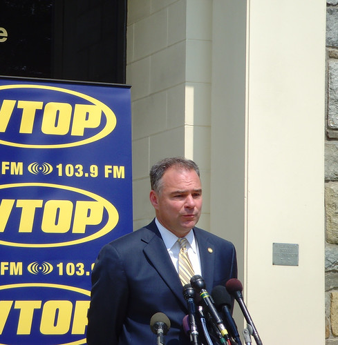 Kaine Meeting The Press Outside WTOP