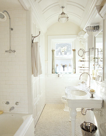 White-cozy-master-bathroom-with-shower-area-and-bathtub-modern-washbasin-mirror-sink-and-toilet-bowl