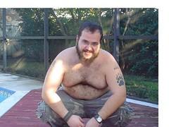 Camo (Bojobear5) Tags: bear gay pierced hairy cute naked beard cub gut chub belly