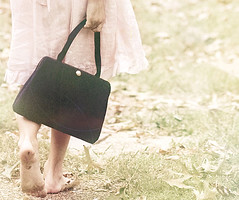 walking (Belle & Bear) Tags: life texture childhood vintage 85mm 5d sweetness handbag vintagepurse shuttersisters