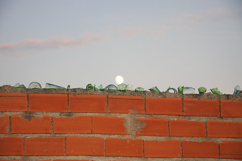 Moon Over Glass Shard Wall