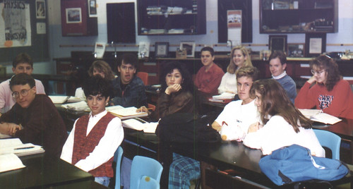1991ish - Clint - Wooodbridge High - Mr. Linz's physics class - Clint makes a funny face