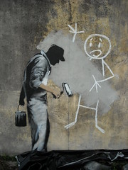 Banksy - New Orleans - The Tragedy of the Buffer