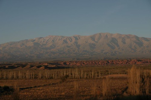 Sunset light from a cerro in Villa Unión - NW Argentina.