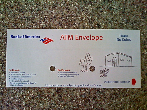 ATM Envelope Art