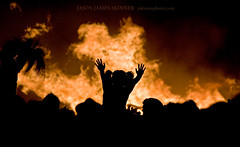 Stop The Burn! (skinr) Tags: hot hair hands child flames fingers silhouettes saturdaynight bonfire heat littlegirl ritual shoulders pigtails crowded theburn theamericandream burningman2008 wwwjskinnerphotocom jasonjamesskinner stoptheburn