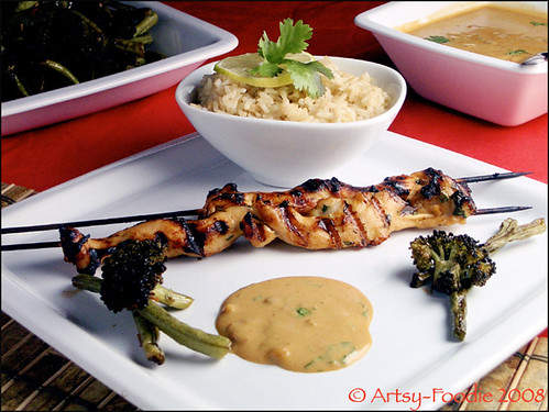 chicken satay plate