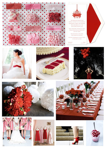 Wedding Wednesday: Red and White with Touches of Pink