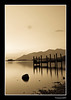 Derwent Water Jetty. (Julian Scott Photography) Tags: uk longexposure england lake mountains sepia reflections landscape pier nationalpark lowlight jetty lakedistrict cumbria fells derwentwater abigfave almostanything nikond300 thebestofnikon goldenmasterpiece prideofengland