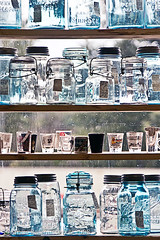 Antique Jars (Rasmus Rasmussen) Tags: old glass snapshot antiques 2008 shelves jars