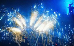 Blue Glow with Crackles and Sparks (EpicFireworks) Tags: china fireworks bonfire pyro bang 13g loud barrage pyrotechnics epicfireworks