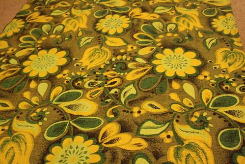 vintage bark cloth curtains