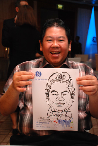 Caricature live sketching for GE Healthcare MI Symposium 8