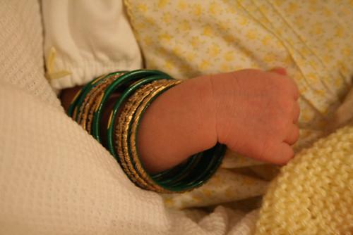 Sophia's New Bracelets