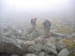 Flying Fortress: Arenig Fawr: Sean and Matt in the fog
