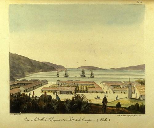 013- Vista de la ciudad de Talcacuano y del puerto de la Concepcion- Chile