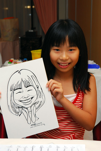 Caricature live sketching for birthday party 8