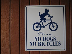 Definitely No Cycling Dogs IMG_1808 Photo