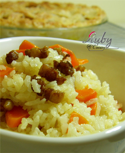 Rice with belly pork