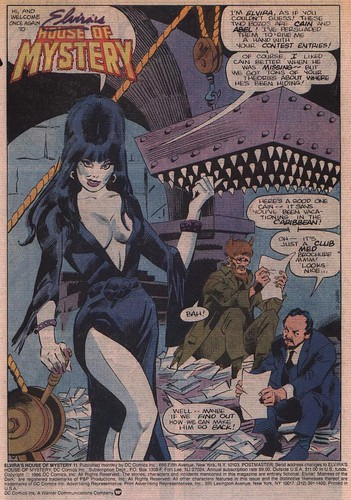 Elvira's House of Mystery page 1