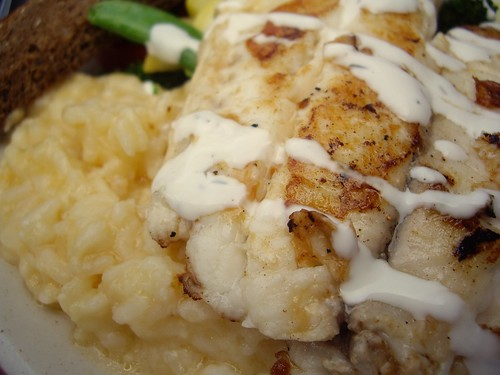 Tilapia with Chipotle Risotto