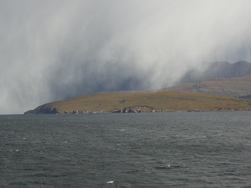 Hailshower over Loch Broom