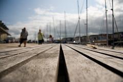 (Shemer) Tags: wood bridge france boats harbor vanishingpoint dof platform larochelle shemer  shimritabraham