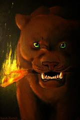 Ratha (Little Lioness) Tags: art cat painting fire book artwork artist author ratha sarahbartell rathascreature clarebell rathascreatureart bigcatfire
