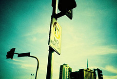 right turn (Stitch) Tags: road trafficlights building sign lca xpro fuji philippines 100 expired weekly provia pasig fujiprovia100f norightturn interestingness245 i500 explore21oct08 lcawideanglelens