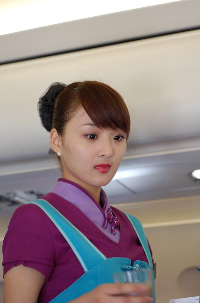 Juneyao Airlines flight attendant
