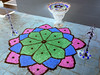Diwali in Negative (HiNoboru) Tags: painting colorful rice lotus malaysia sikhs diwali sandpainting 2008 hinduism festivaloflights sikhism sepang selangor kolam rangoli deepavali divali jains jainism rowoflights indianfestival hindus rangavalli indiannewyear carlzeisstessar2856mm கோலம் kõlaṁ