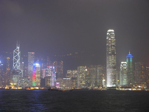 HK Island at night from Kowloon