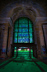 Shattered History (Noel Kerns) Tags: abandoned station night michigan detroit central terminal depot