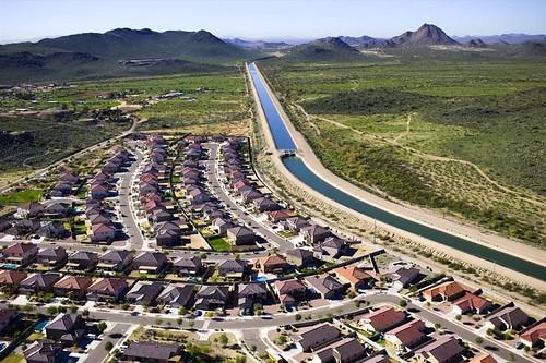 Granite Reef Aquaduct, central AZ - (c) 2008 Alex S. MacLean/Landslides