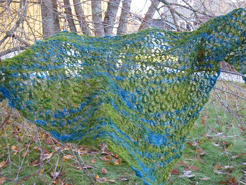 Bird's eye shawl
