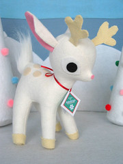 White Reindeer! (Fantastic Toys) Tags: christmas white vintage reindeer plush deer softies fawn giveaway kawaii fantastictoys
