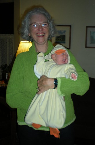 Maybelle as duck, Halloween 2008
