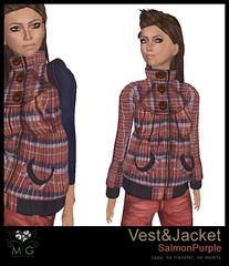 [MG fashion] Vest&Jacket (SalmonPurple)