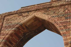 Arch at Qutub (Koshyk) Tags: arch delhi mosque carving hindu qutub mehrauli redsandstone slavedynasty indoislamicart