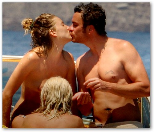 Sienna Miller & Balthazar Getty on the Beach