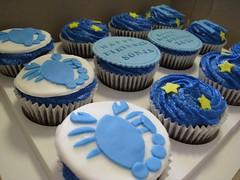 Scorpio Birthday Cupcakes (abakedcreation) Tags: birthday blue star scorpio cupcake horoscope fondant gumpaste