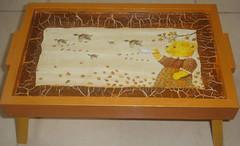 Bandeja Ursinho (Artes Biazinha) Tags: handmade artesanato papel pintura urso mdf decoupage guardanapo bandeja craquele manualidade