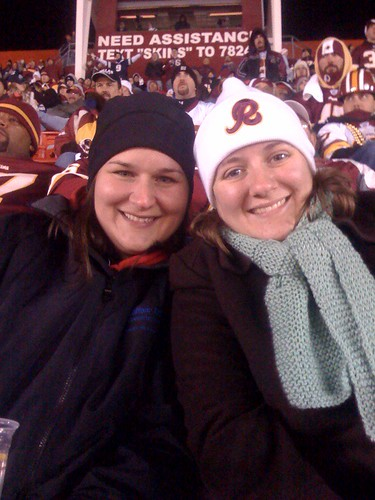 With Delora at Redskins/Cowboys Game