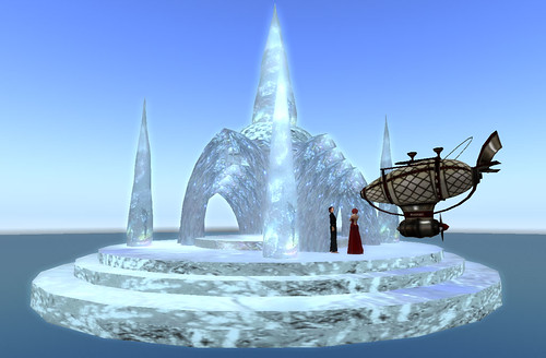 The Expedition comes upon a Floating Island of Ice