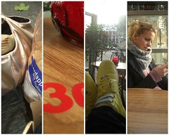 Rotterdam (Aisha Reehuis) Tags: red sun holland netherlands girl smile yellow 30 bag nokia shoes mulher plastic esther ps tas geel rood zon schoenen aisha reebok thirty gele dertig rotteram n73 reehuis wageman