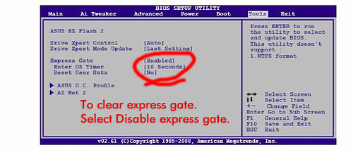 Disable Express Gate