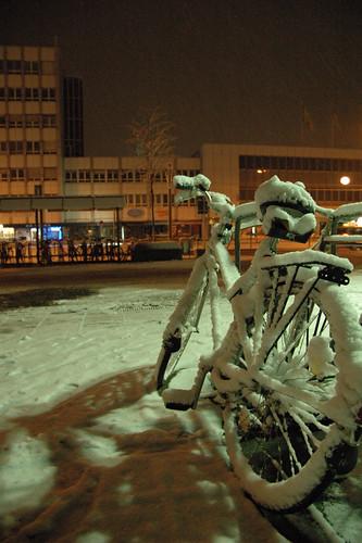 Schneetreiben in Ulm